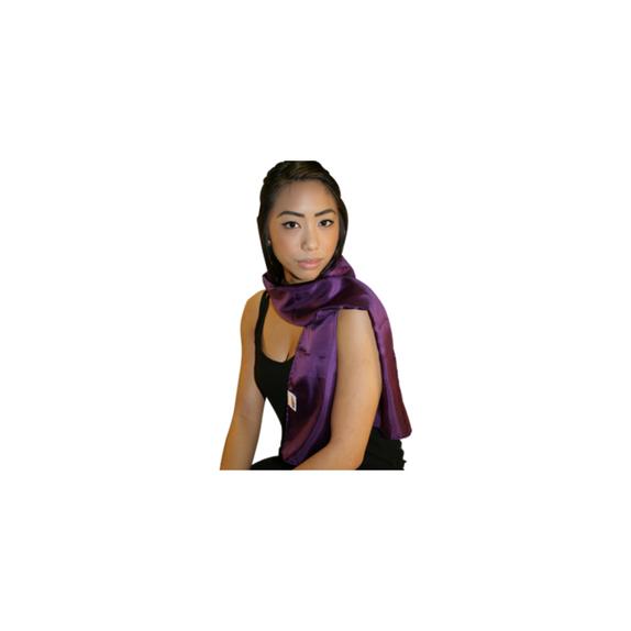 šatka fialová na krk