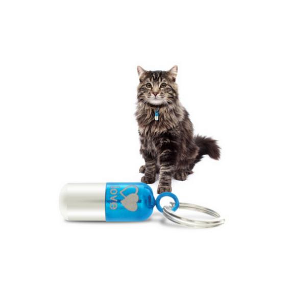 Tachyonizovaný prívesok pre zvieratá malý modrý